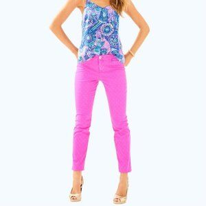 Lilly Pulitzer Kelly Skinny Ankle Pant Sz 4